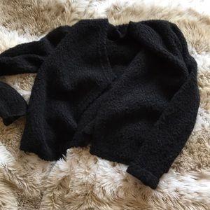 Black wool cardigan!